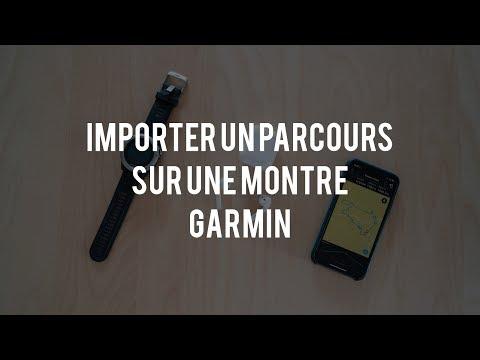 Importer un parcours via l'application smartphone Garmin Connect
