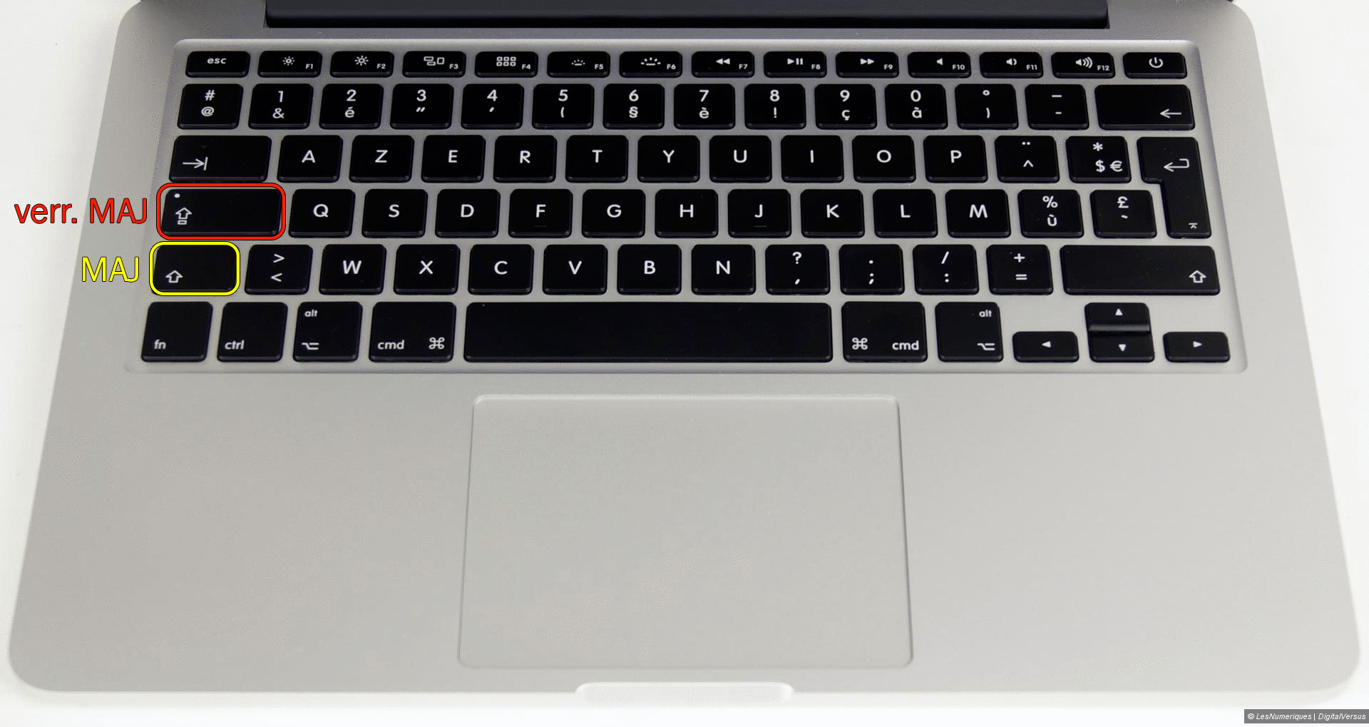 Mac OS X : how to type numbers with the SHIFT key | The Geek