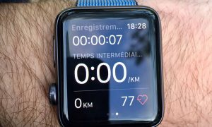 Test de Strava sur l'Apple Watch Series 2