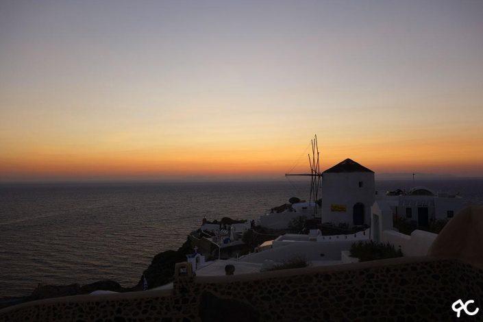 Coucher de soleil à Oia