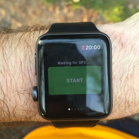 Attente du GPS avant de lancer la session