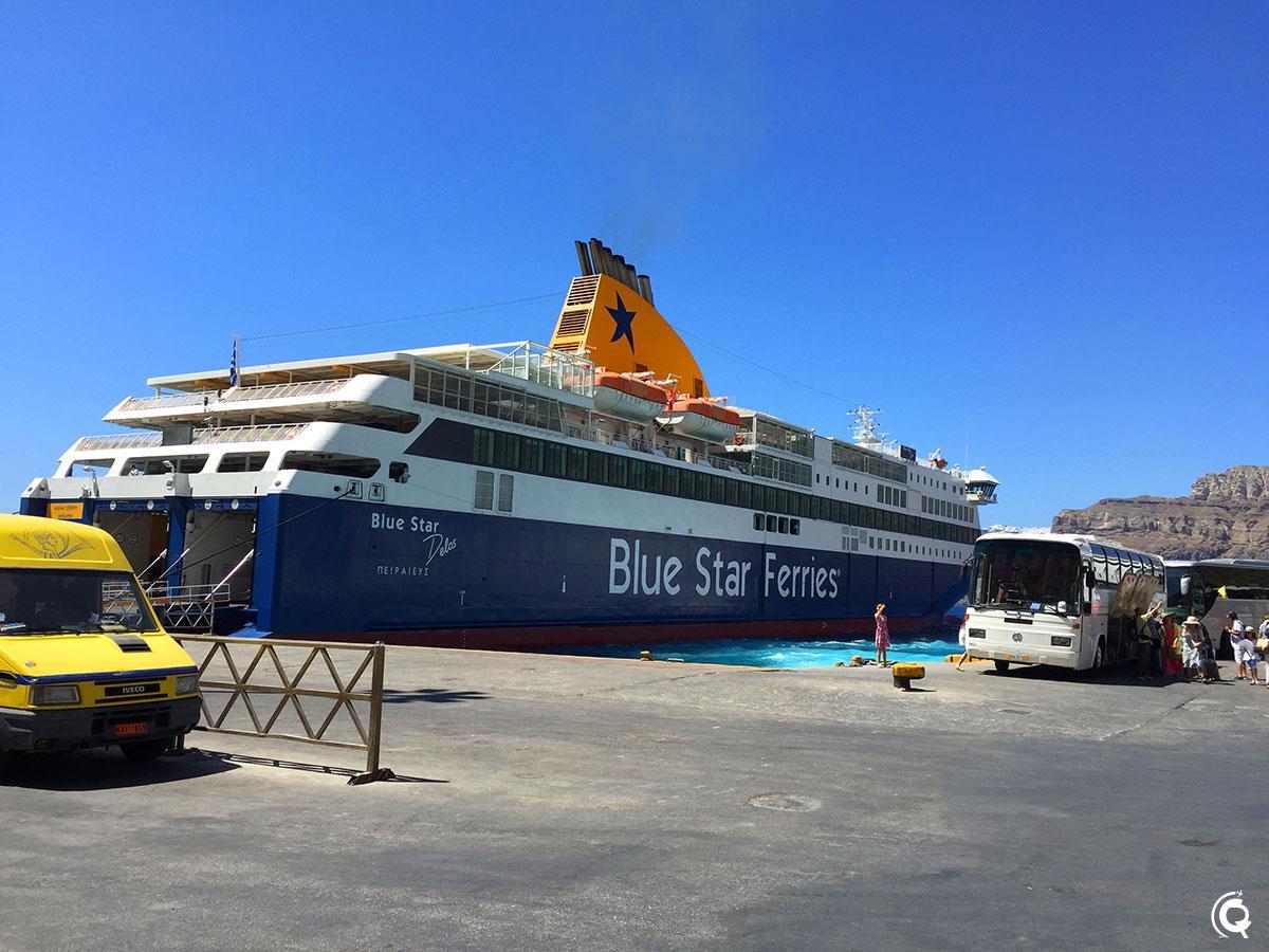 Le ferry qui nous amène à Paros, prochaine étape de notre voyage