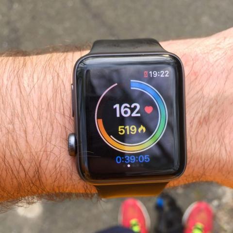 Deuxième écran qui affiche la fréquence cardiaque et les calories brûlées