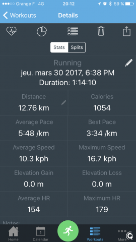 12,76km avec MotiFIT Run