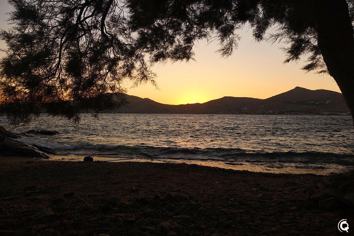 Coucher de soleil à Paros