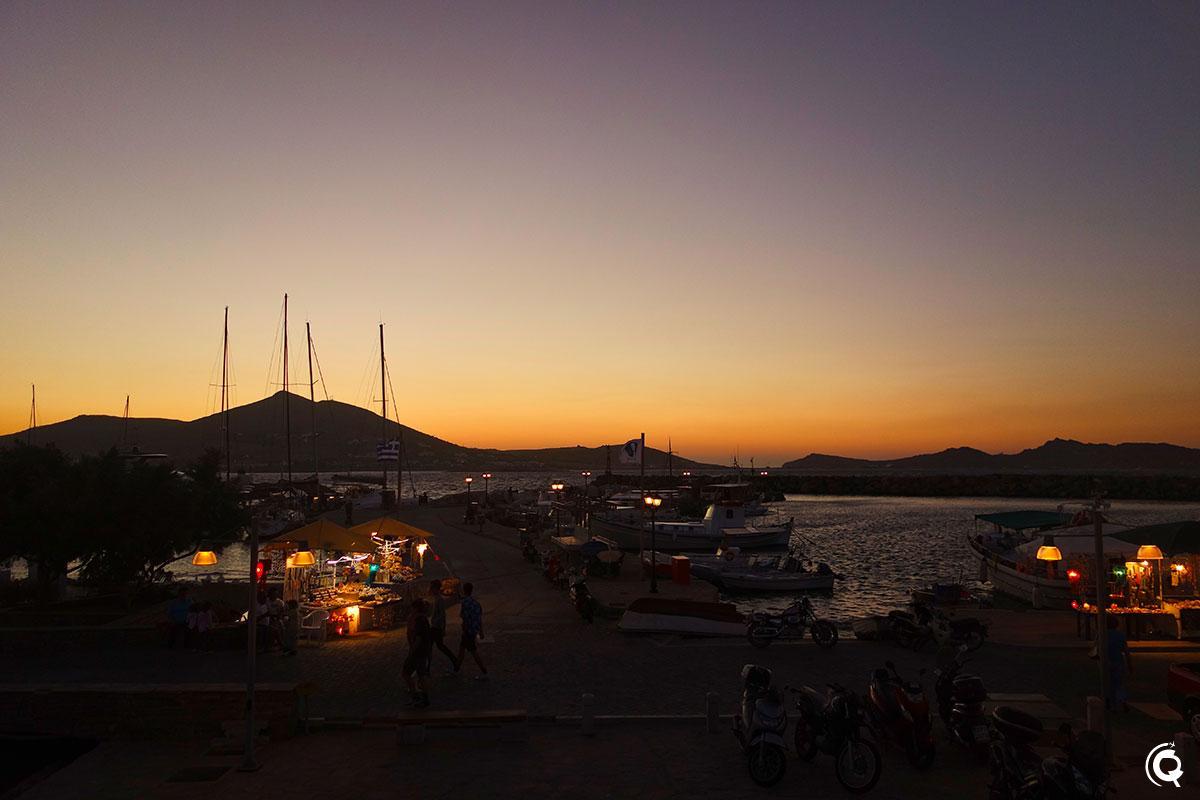 Coucher de soleil à Naoussa