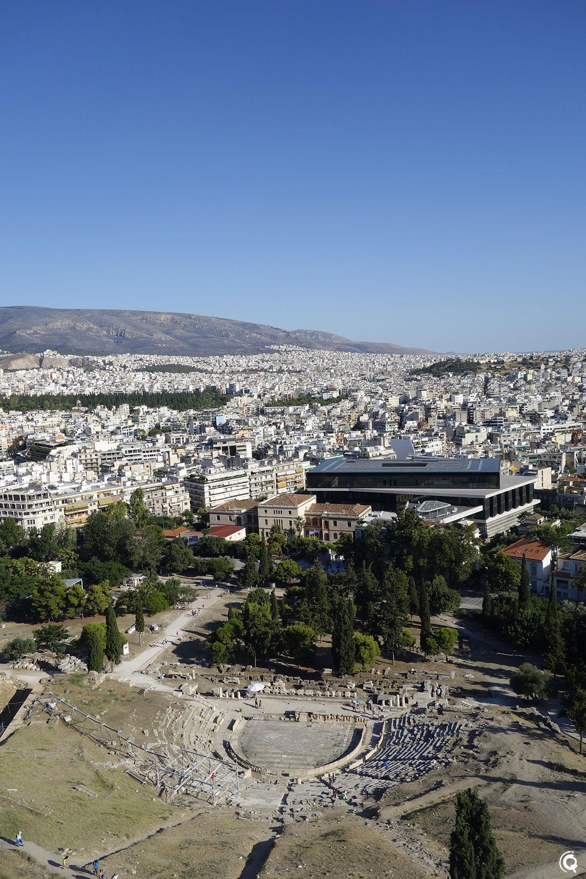 Le théâtre de Dionysos à Athènes