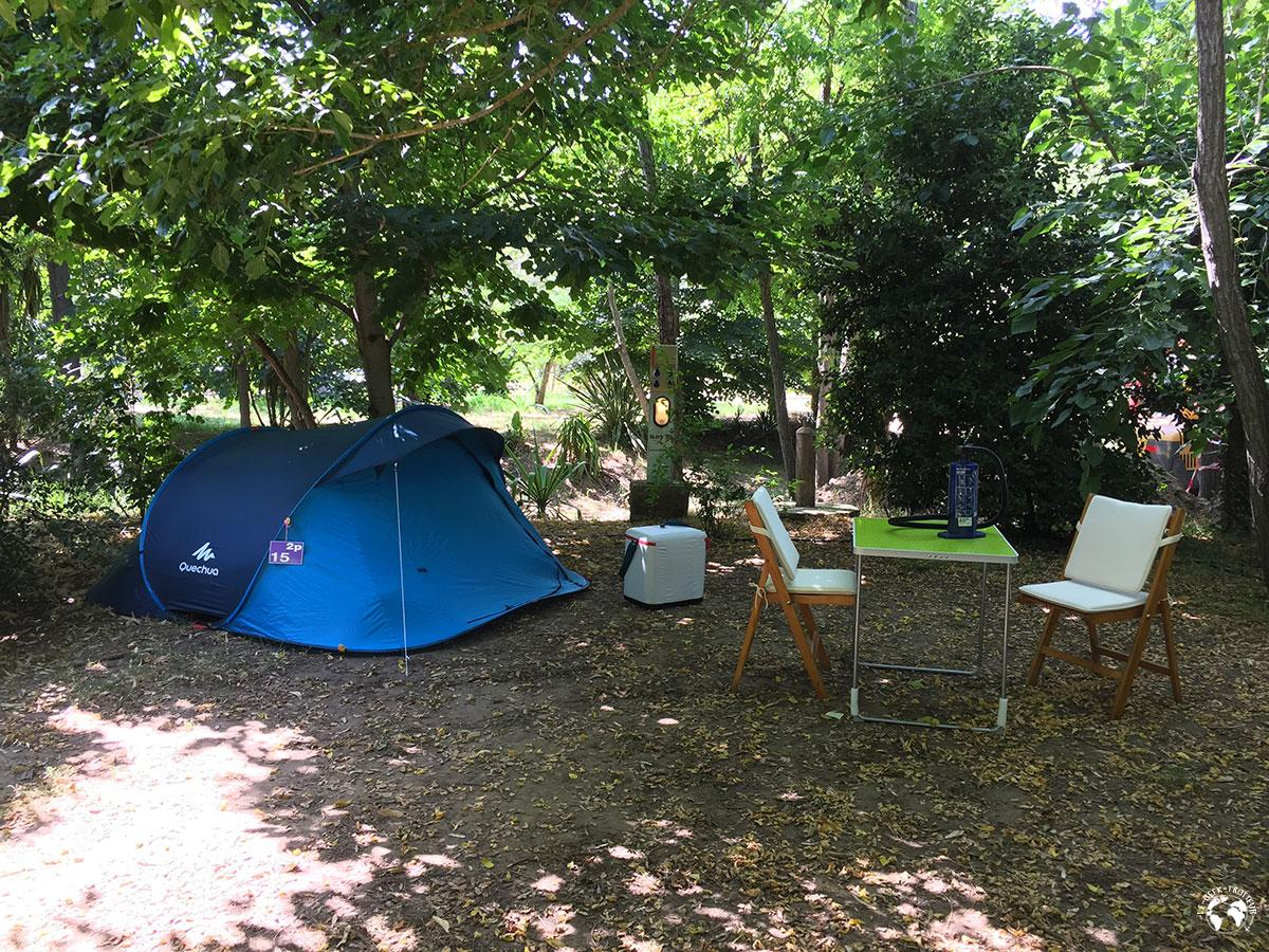 Notre installation au camping