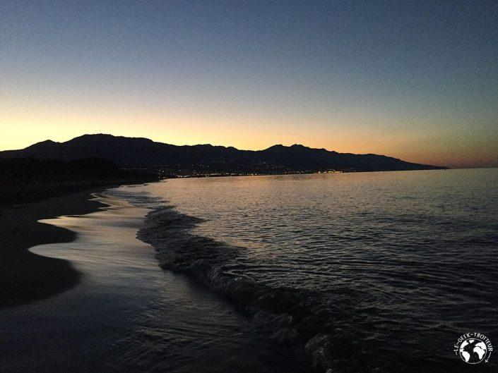 Plage du camping San Damiano pas loin de Bastia