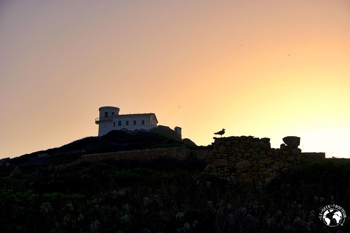 Coucher de soleil sur les îles sanguinaires en Corse