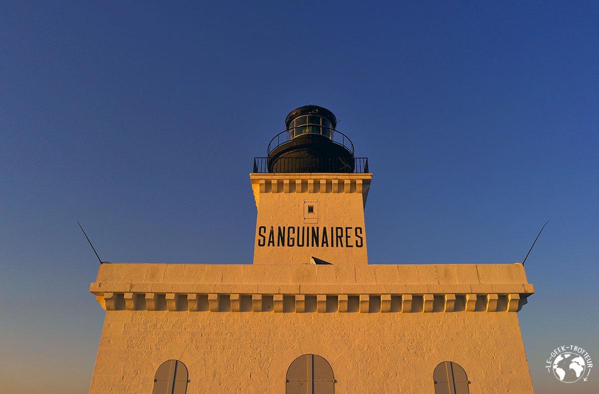 Le phare des îles sanguinaires en Corse