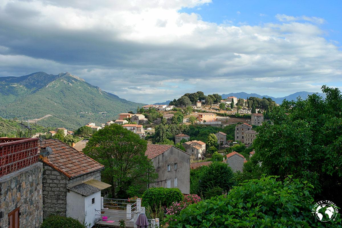 Le village de Levie en Corse