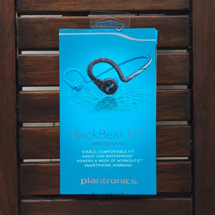 Packaging écouteurs Plantronics Backbeat Fit