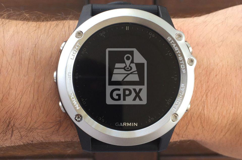 Importer un parcours sur la montre Garmin Fenix