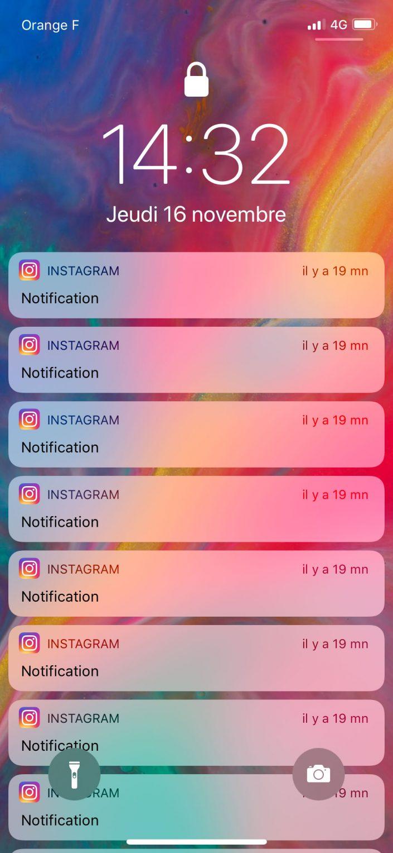 L'iPhone n'a pas mon attention donc il n'affiche pas le contenu des notifications