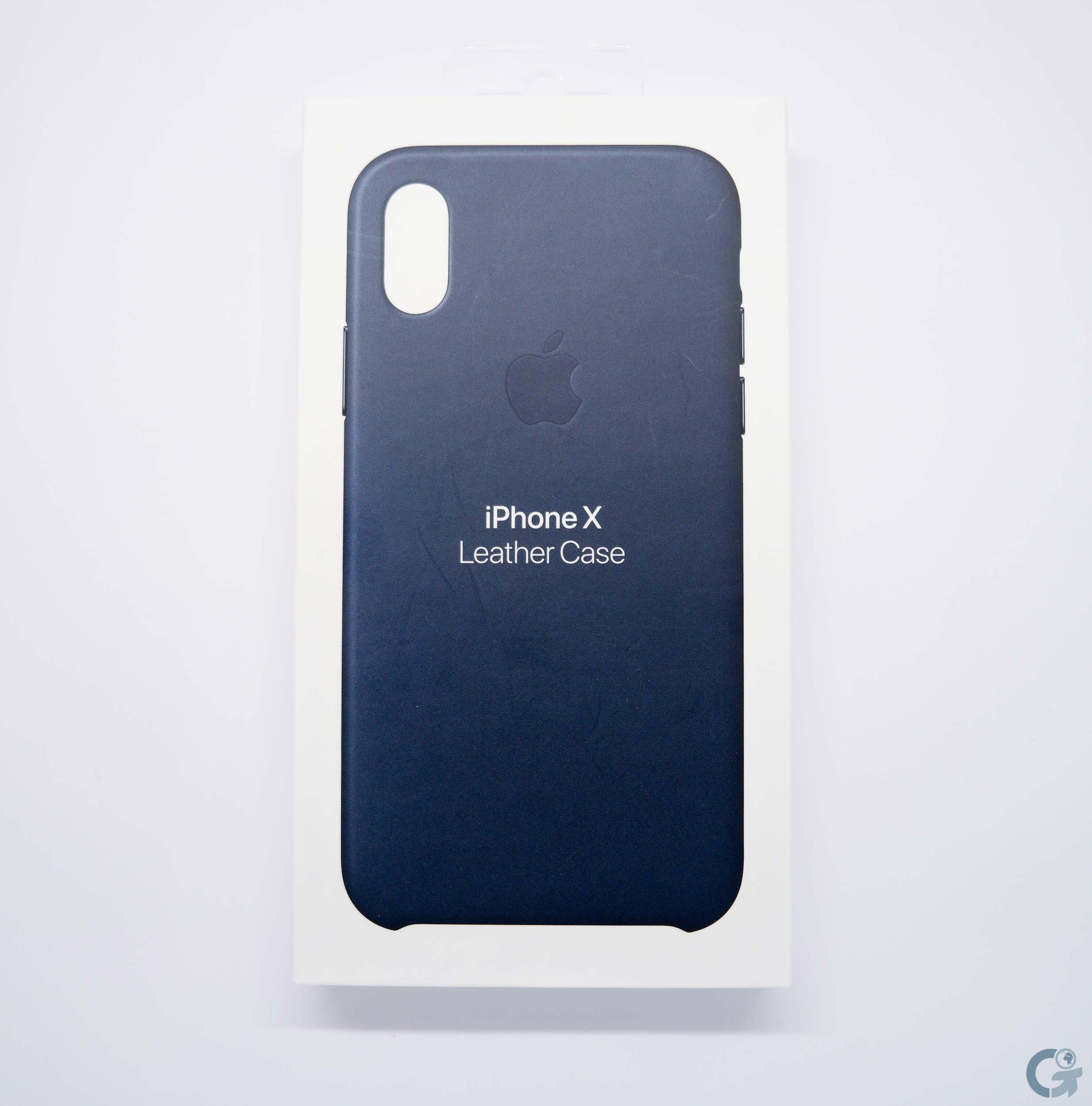 Boîte Leather Case Apple Bleu Cosmos pour iPhone X