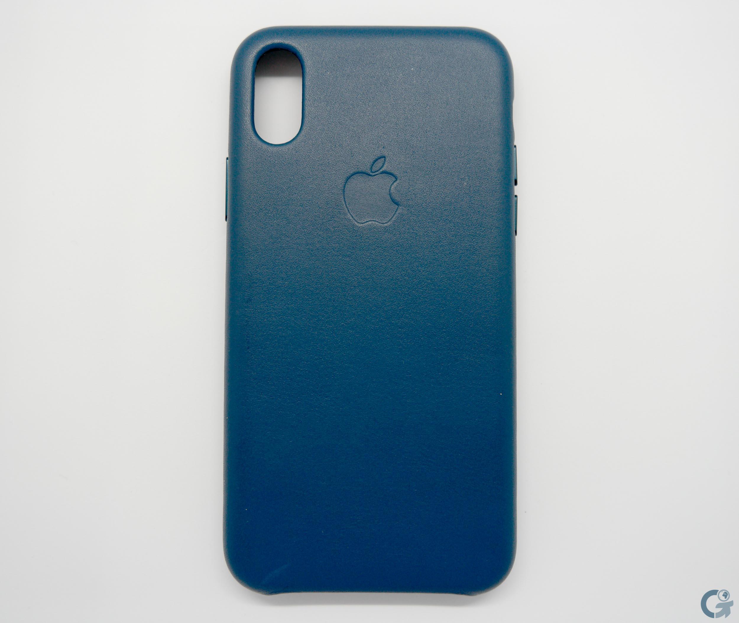 Coque en cuir Apple Bleu Cosmos pour iPhone X