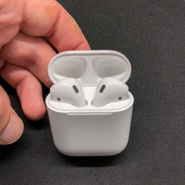 Packaging des écouteurs AirPods d'Apple