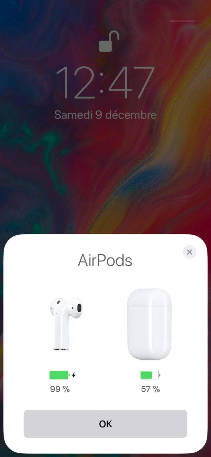 Appairage des Airpods d'Apple