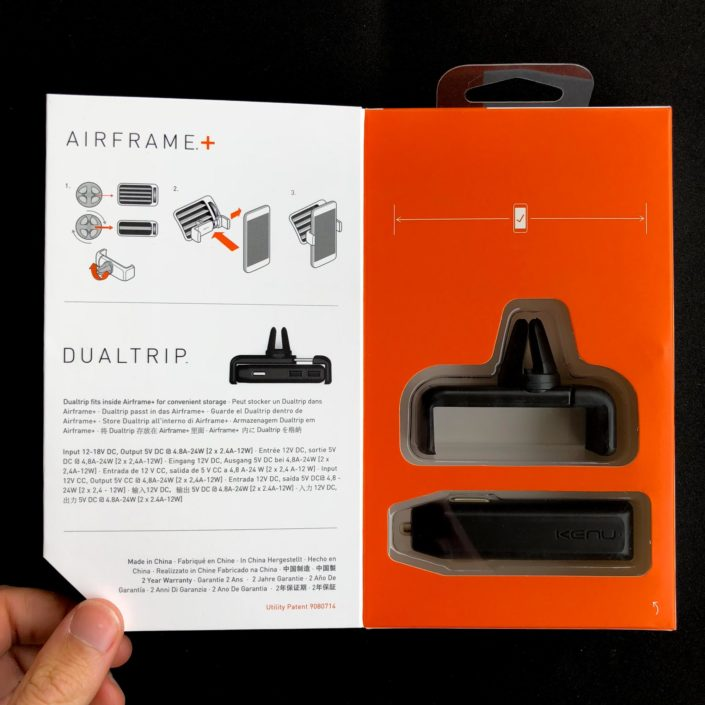 Le packaging du Kenu Airframe+