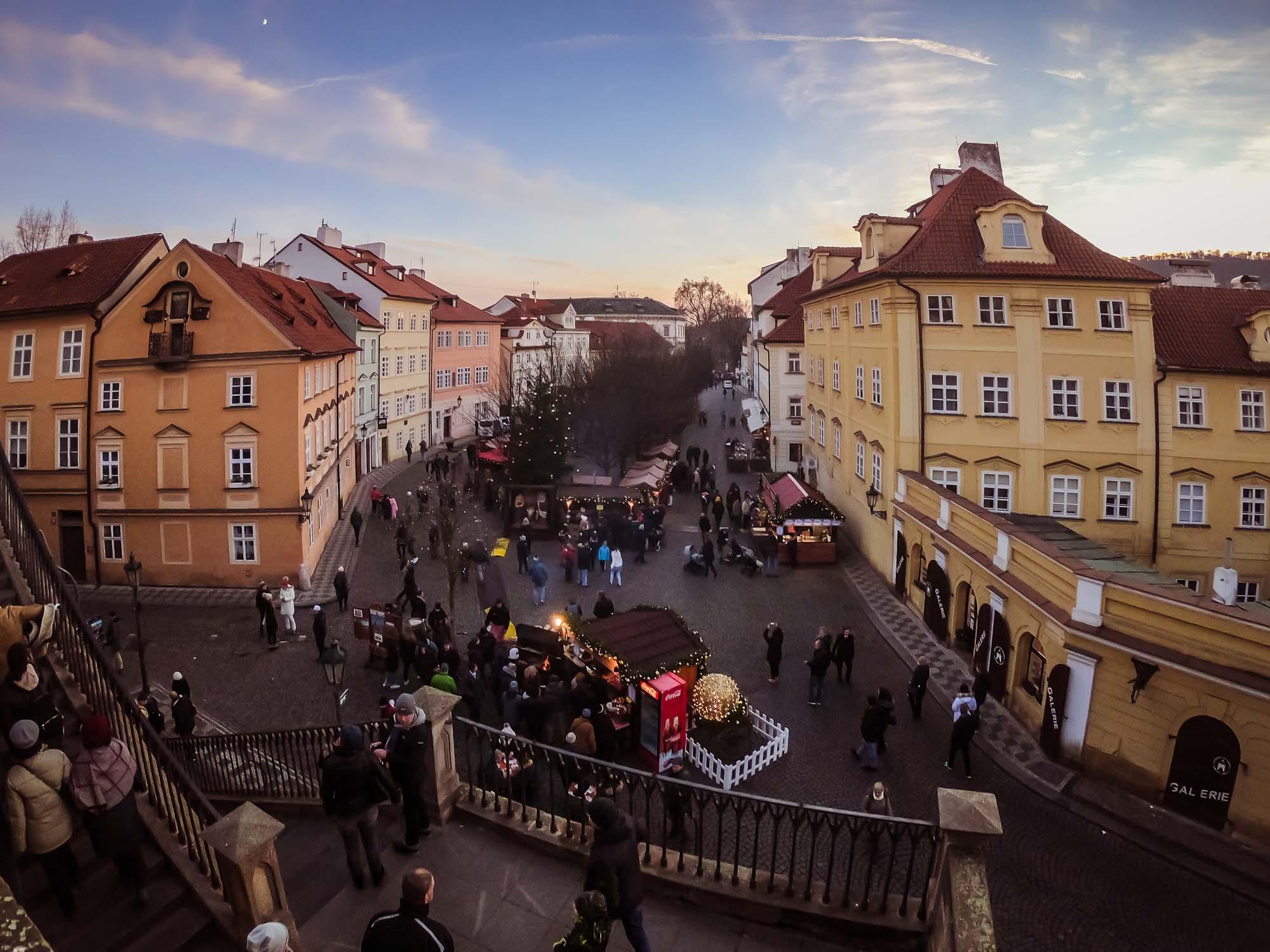 La place Na Kampe de Prague