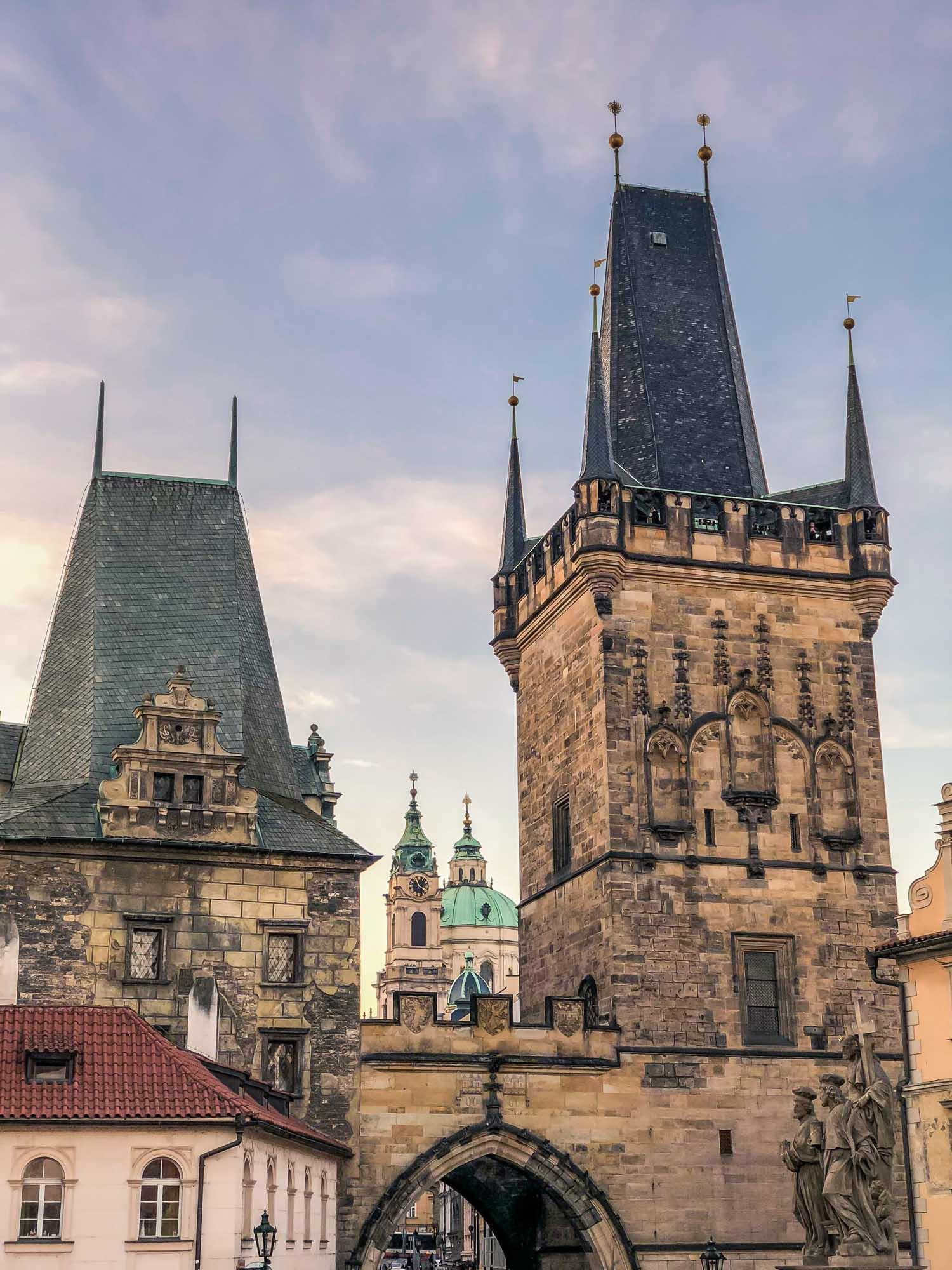 La Lesser Town Bridge Tower de Prague
