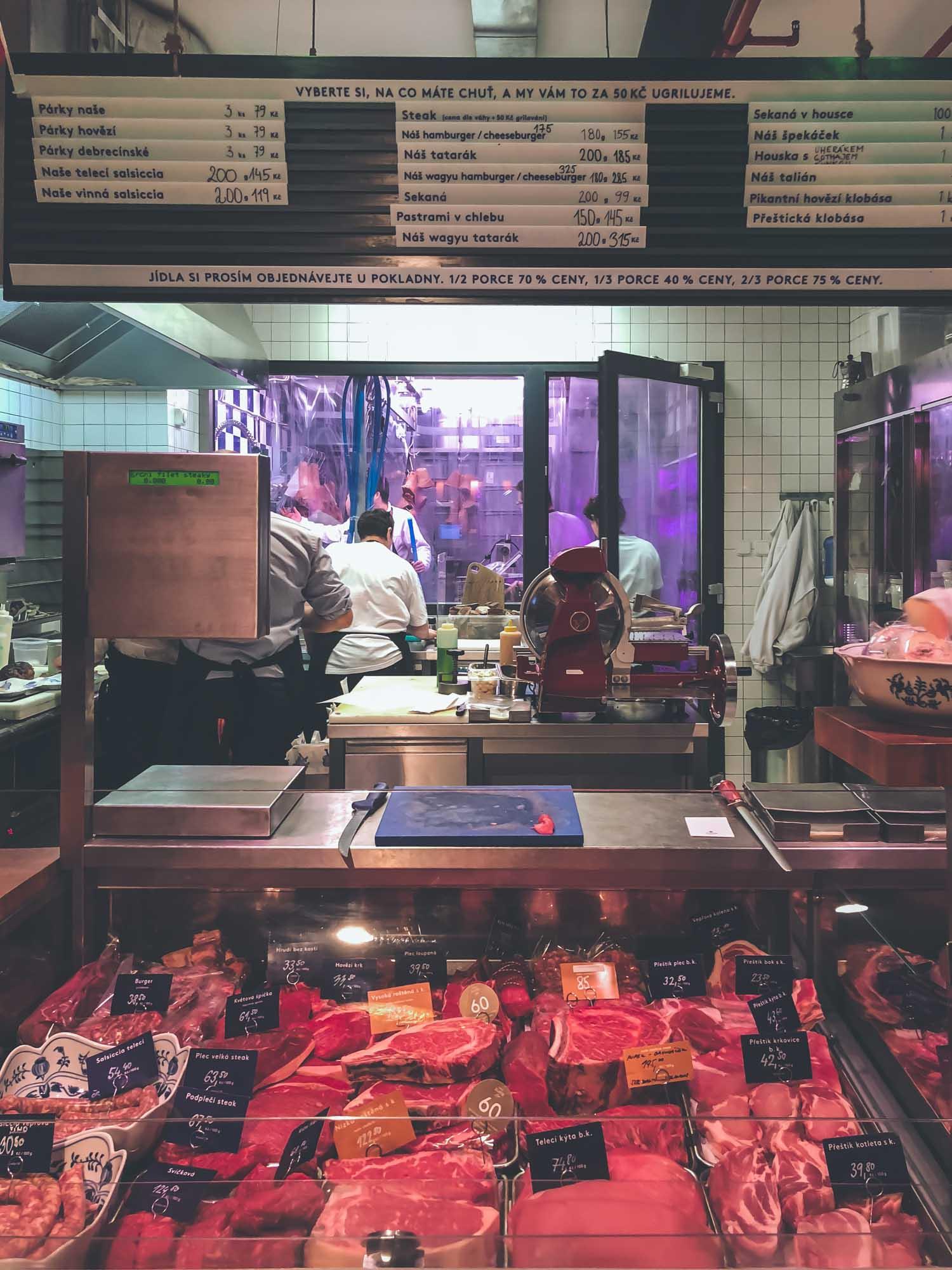 la boucherie Naše maso à Prague