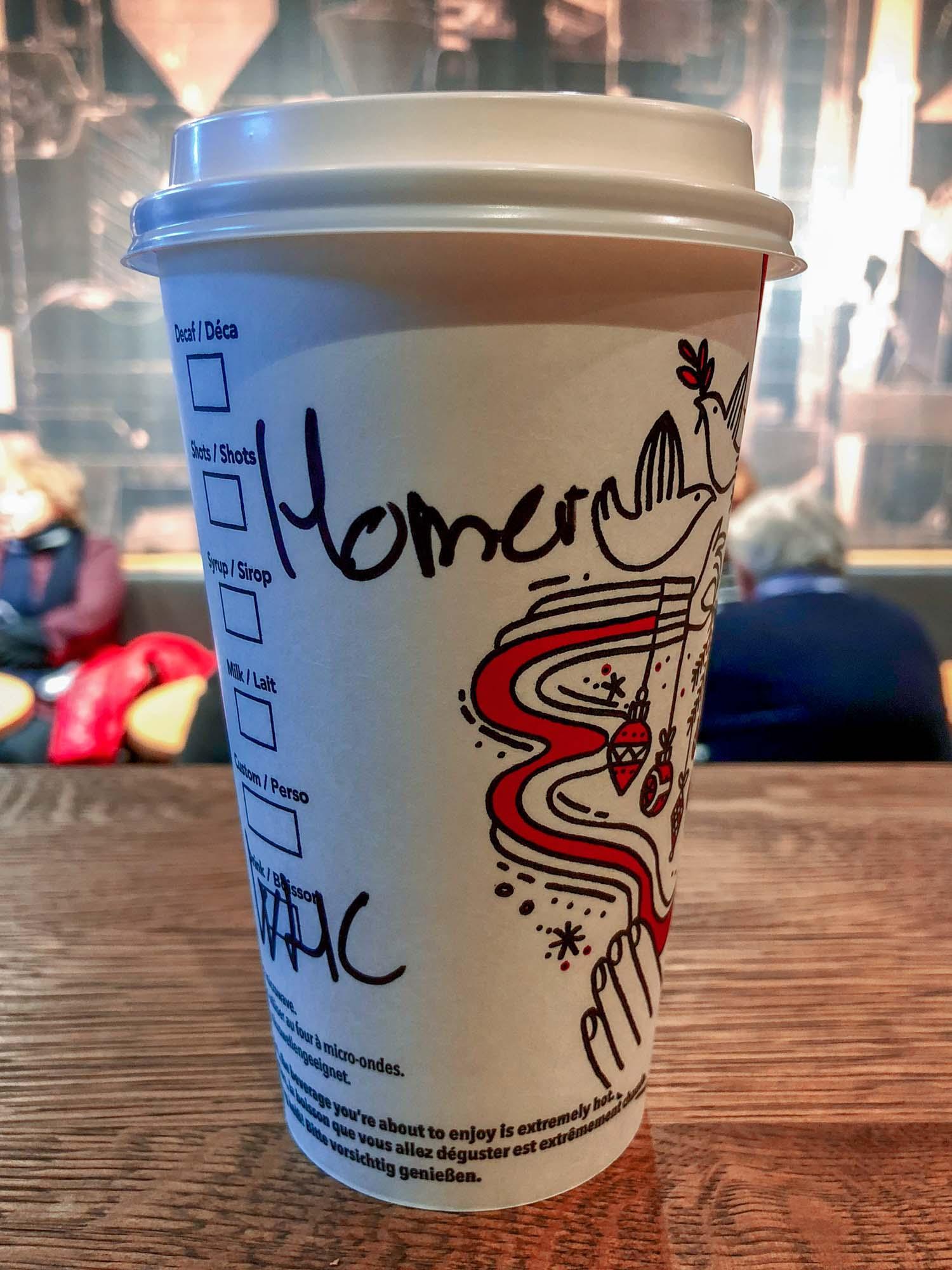 Gobelet Starbucks Prague