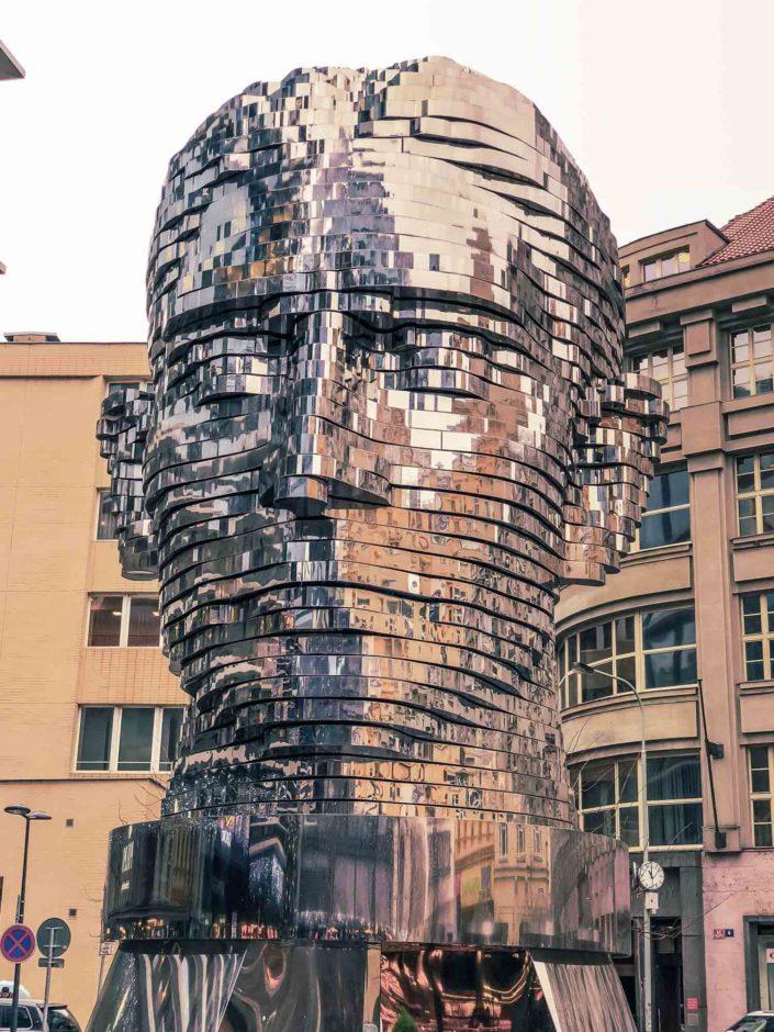 Le buste de Kafka à Prague