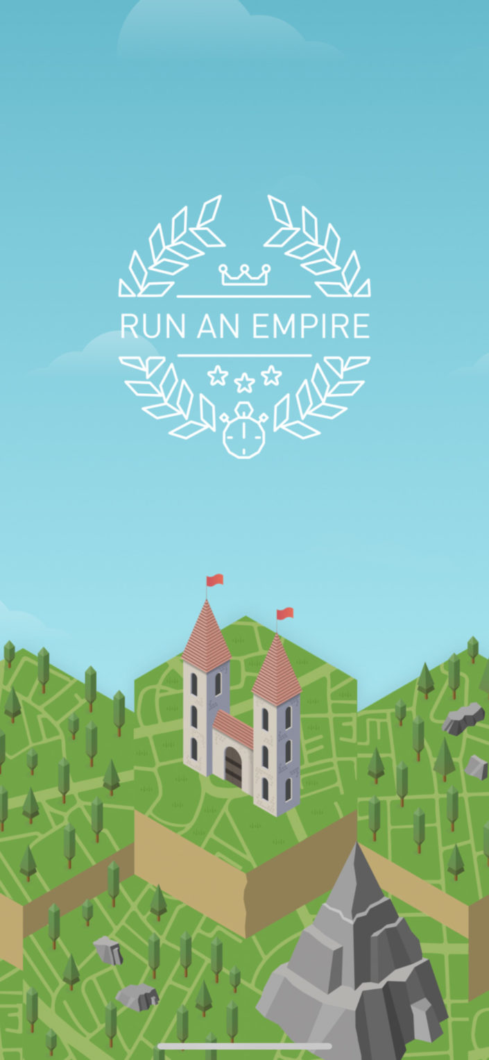 Ecran de chargement de l'application Run an Empire
