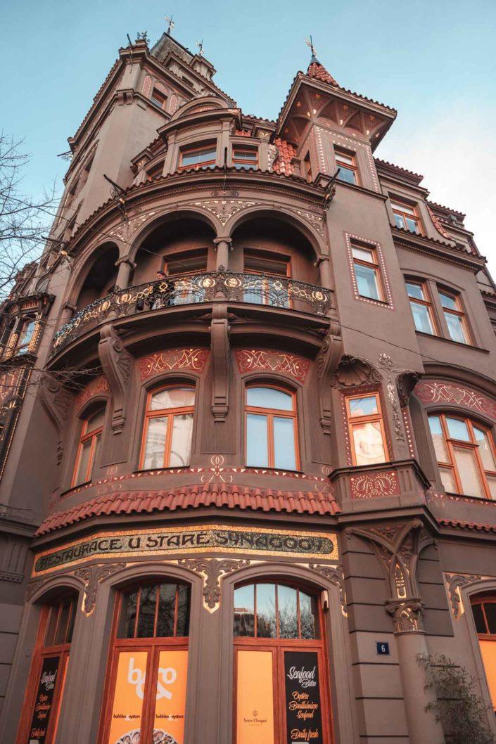 Bâtiment dans le quartier juif de Prague