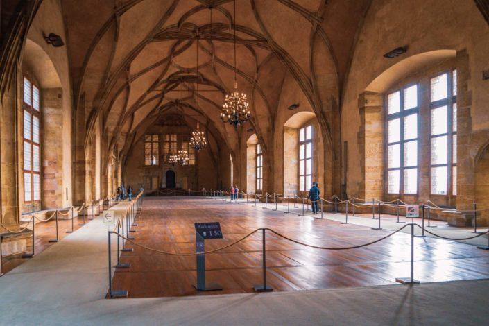 L'intérieur de la salle Vladislav de l'Ancien Palais Royal de Prague