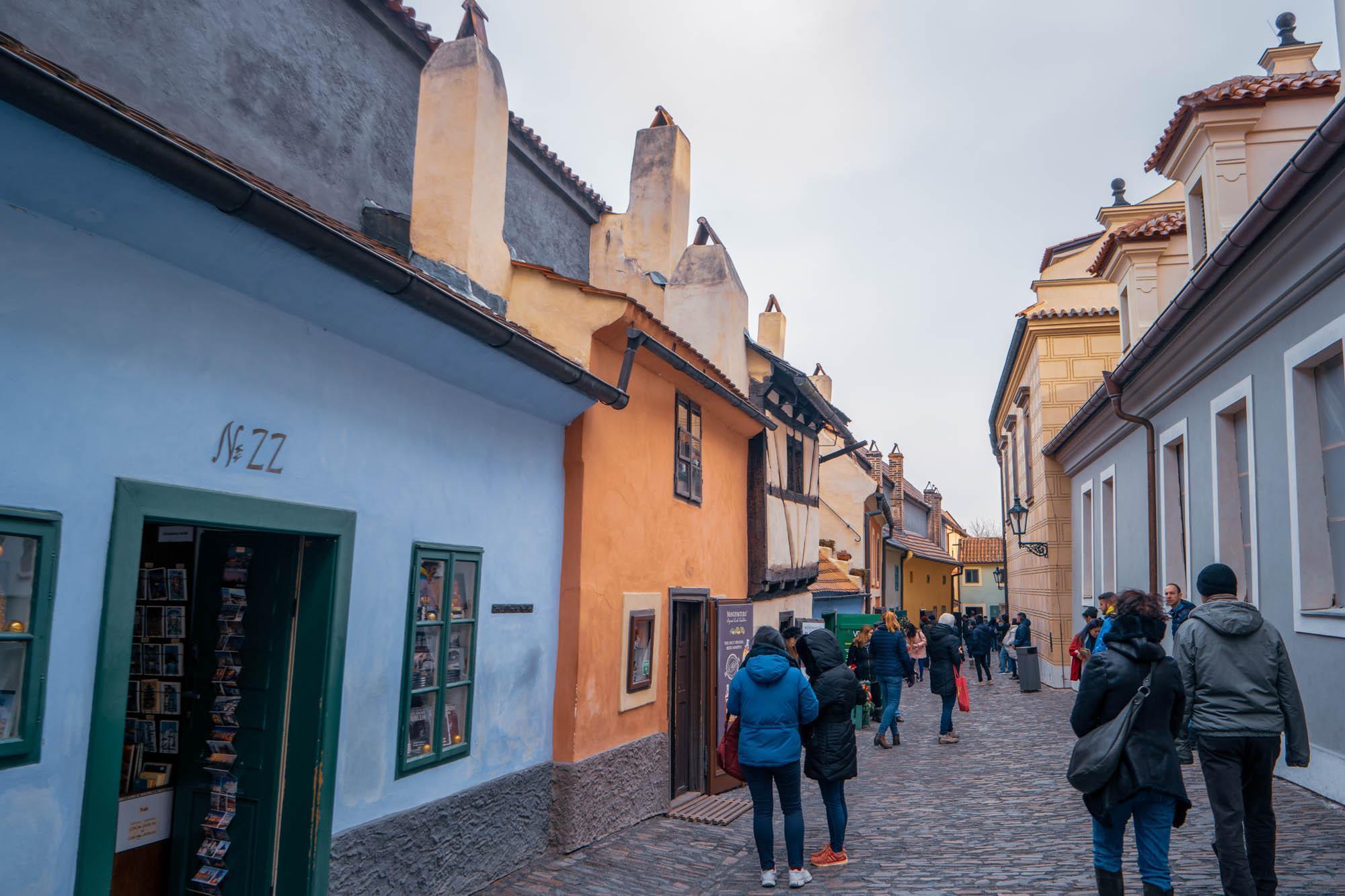 La pittoresque Ruelle d'Or à Prague