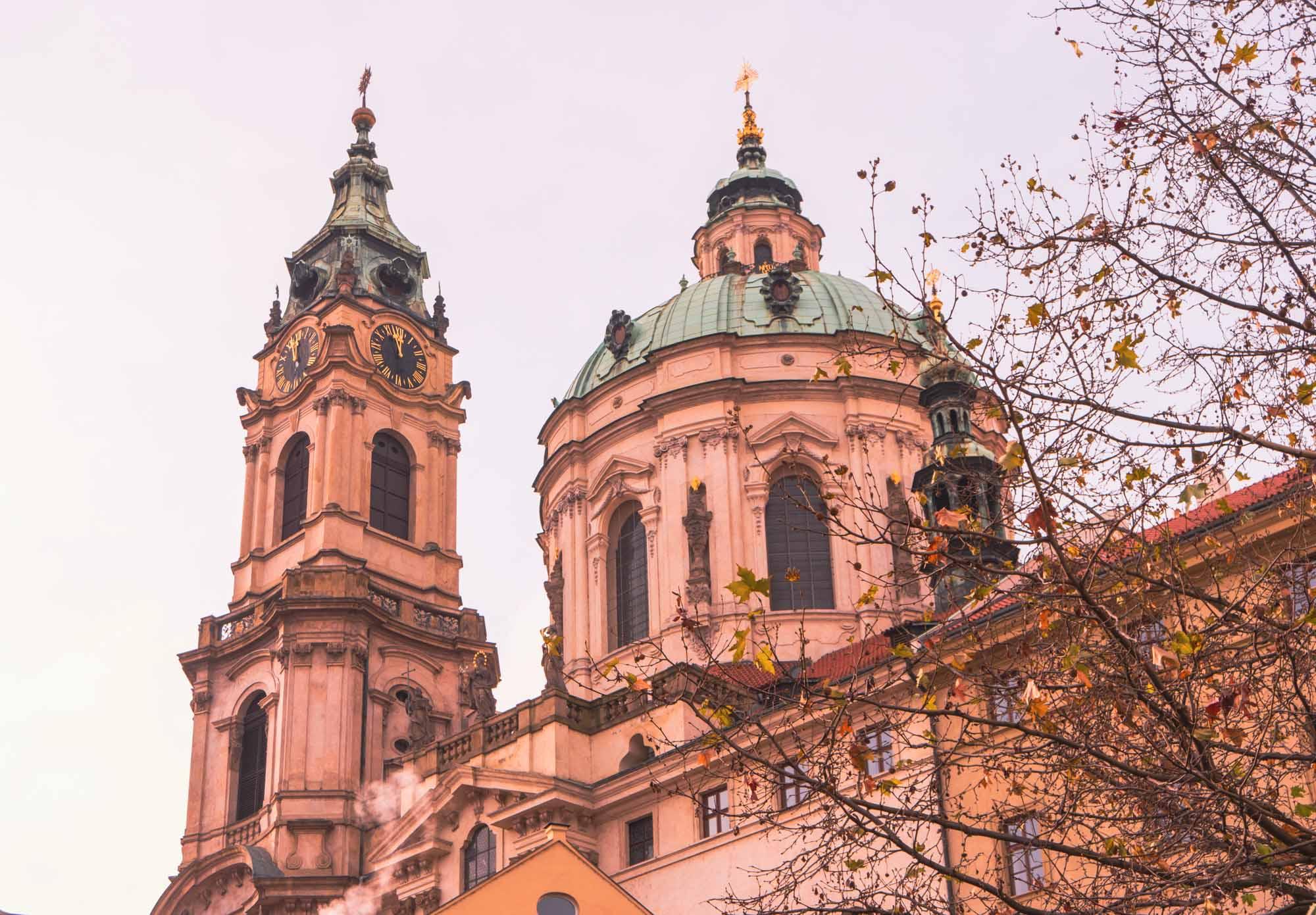 Les fameux dômes verts de Prague