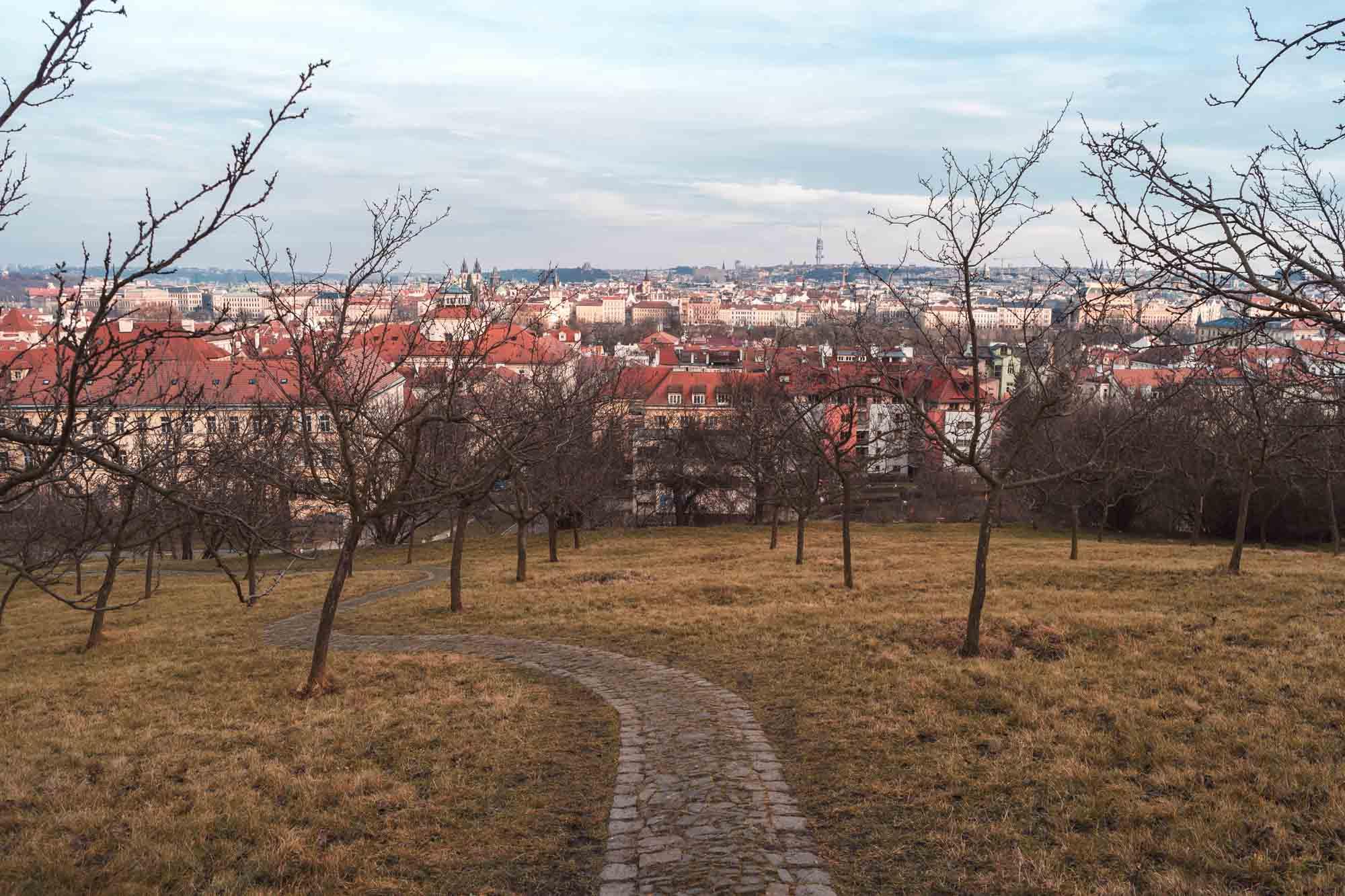 Le parc de Petřín de Prague