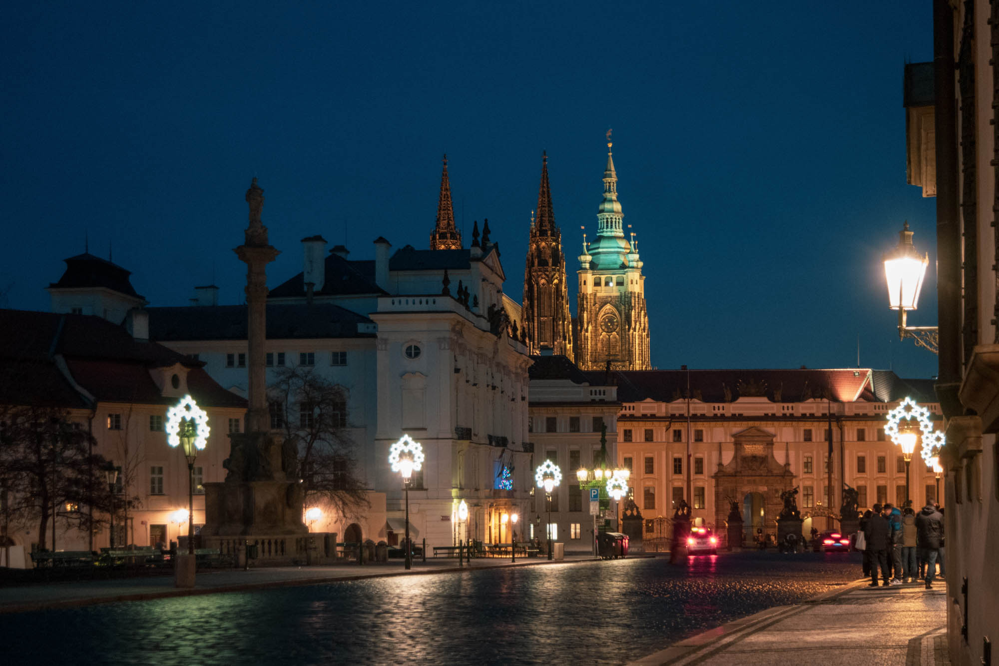 La place Hradčany à Prague