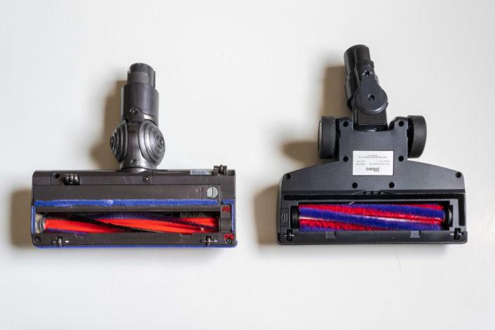 Comparaison avec la brosse fournie sur le Dyson V6