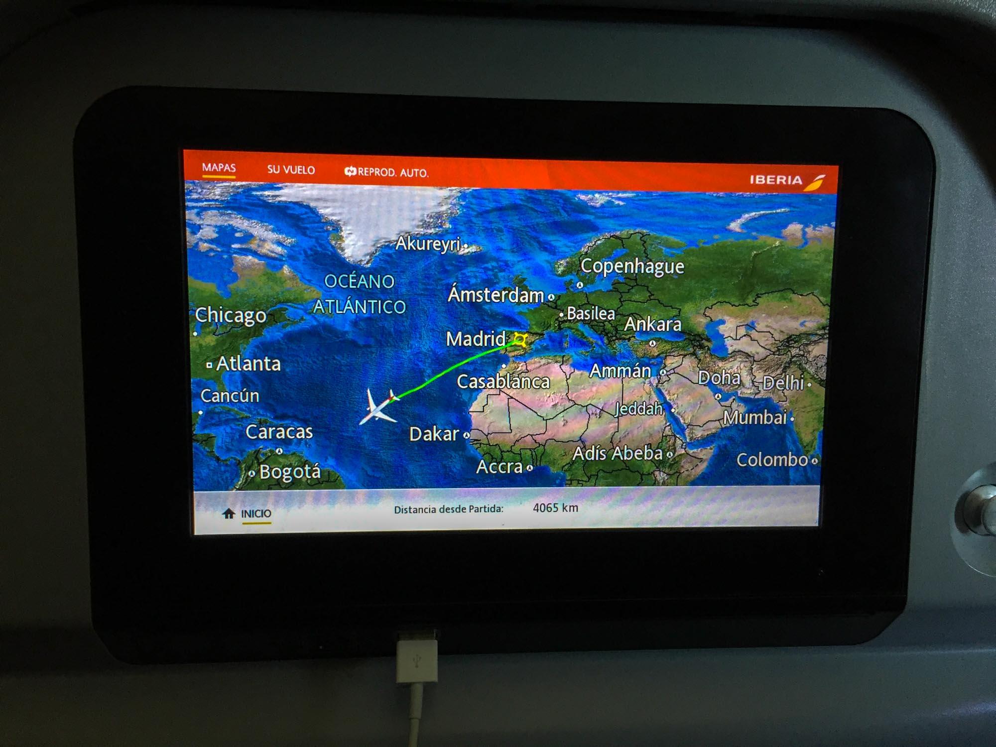 Trajet avion Iberia