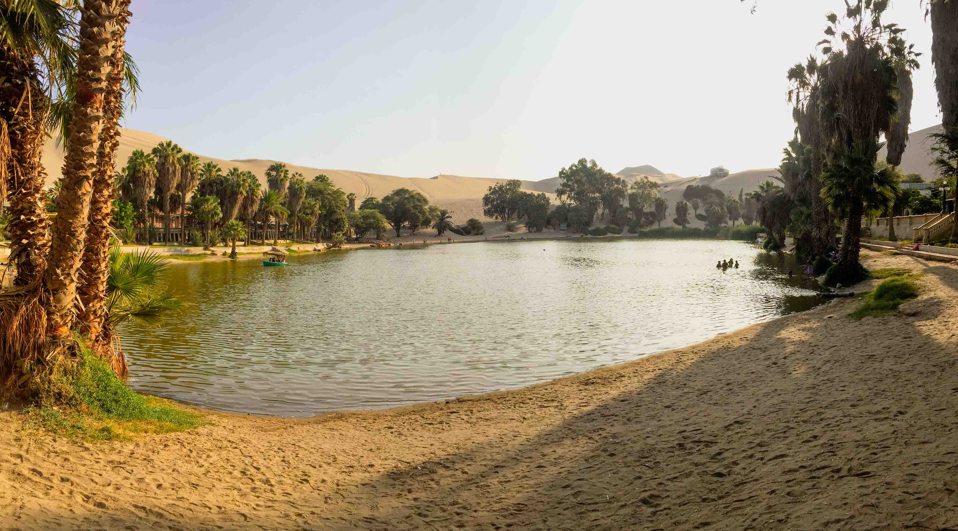 L'oasis marque le début des dunes