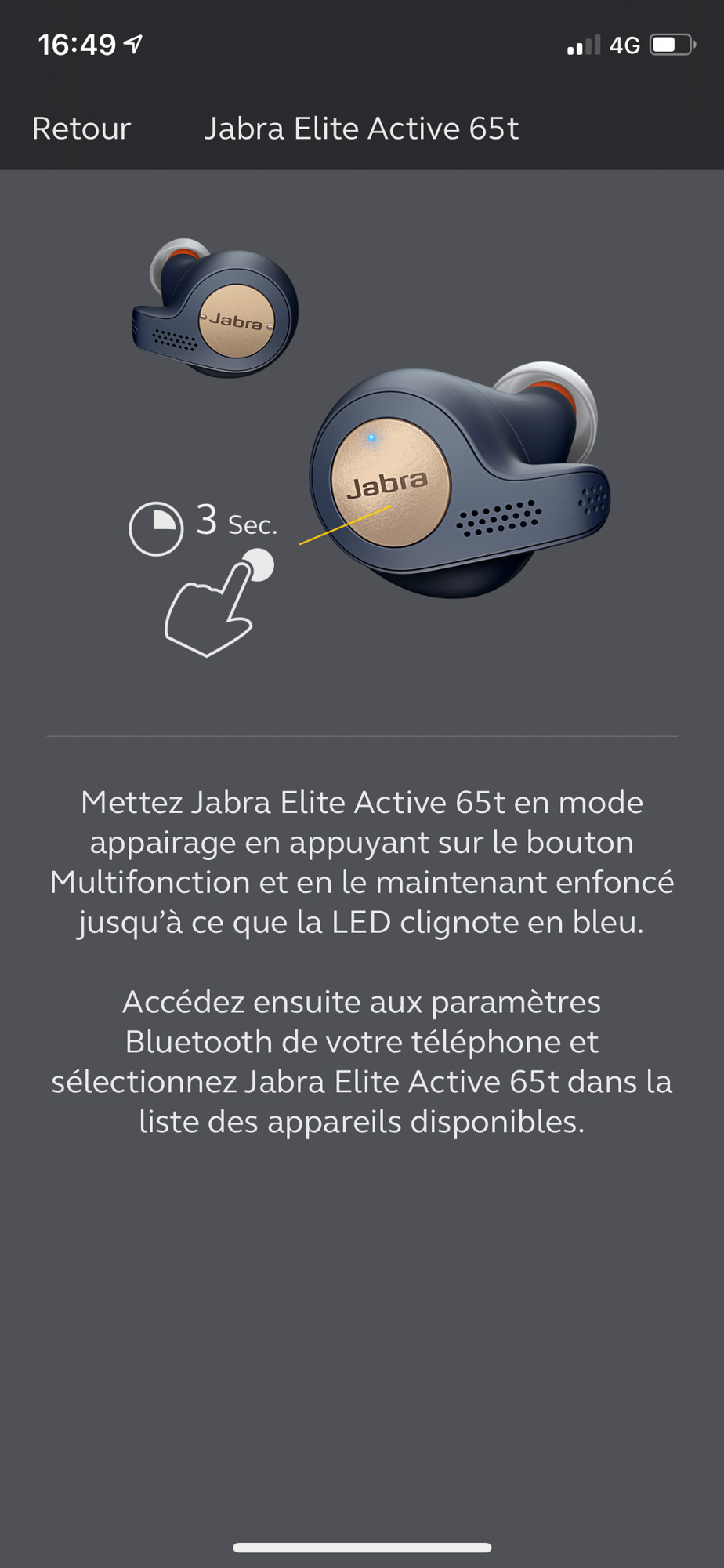 Application Jabra Sound+ - appairage