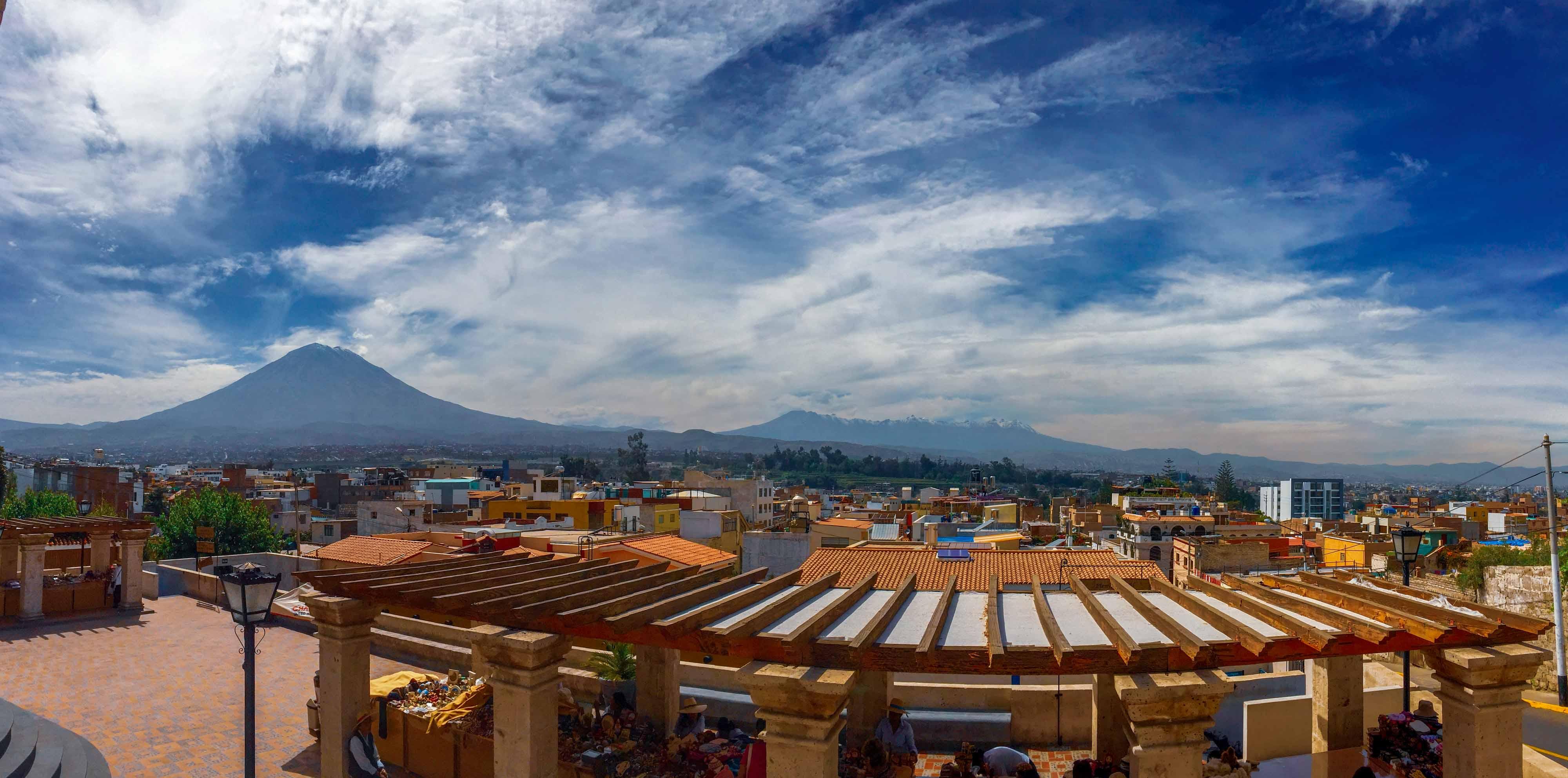 Le panorama sur toute la ville d'Arequipa