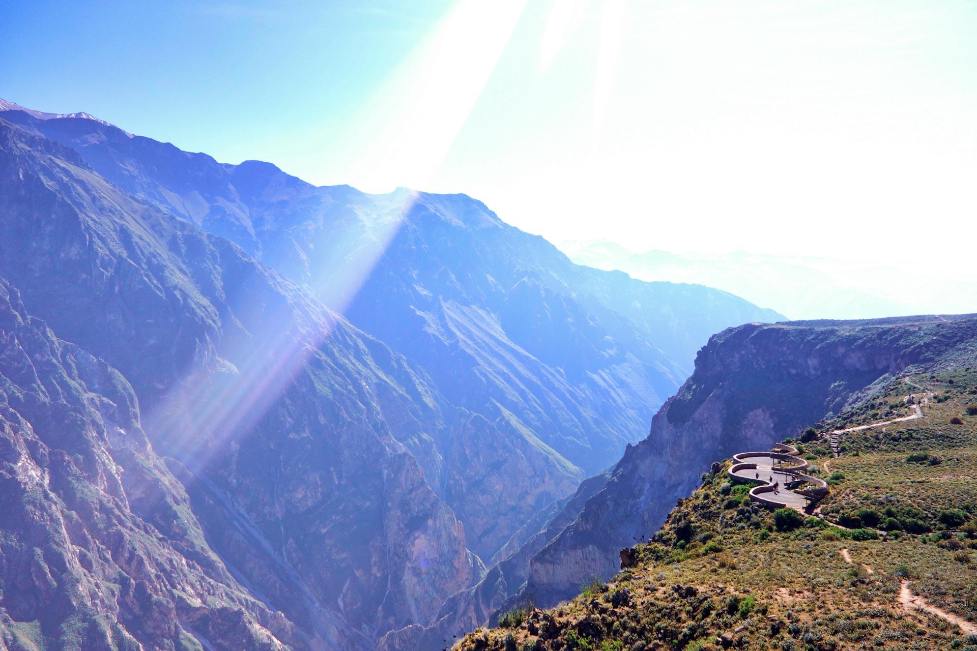 Vue depuis le mirador Cruz del Condor
