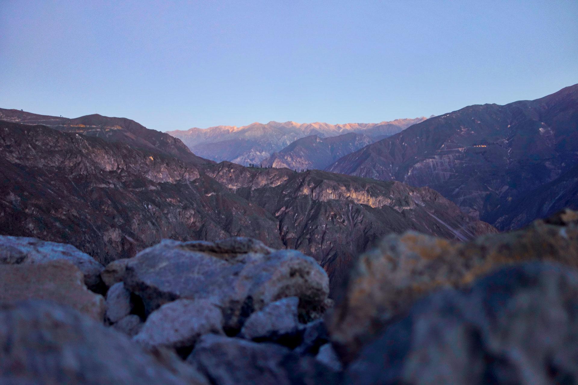 Lever de soleil sur le Canyon de Colca