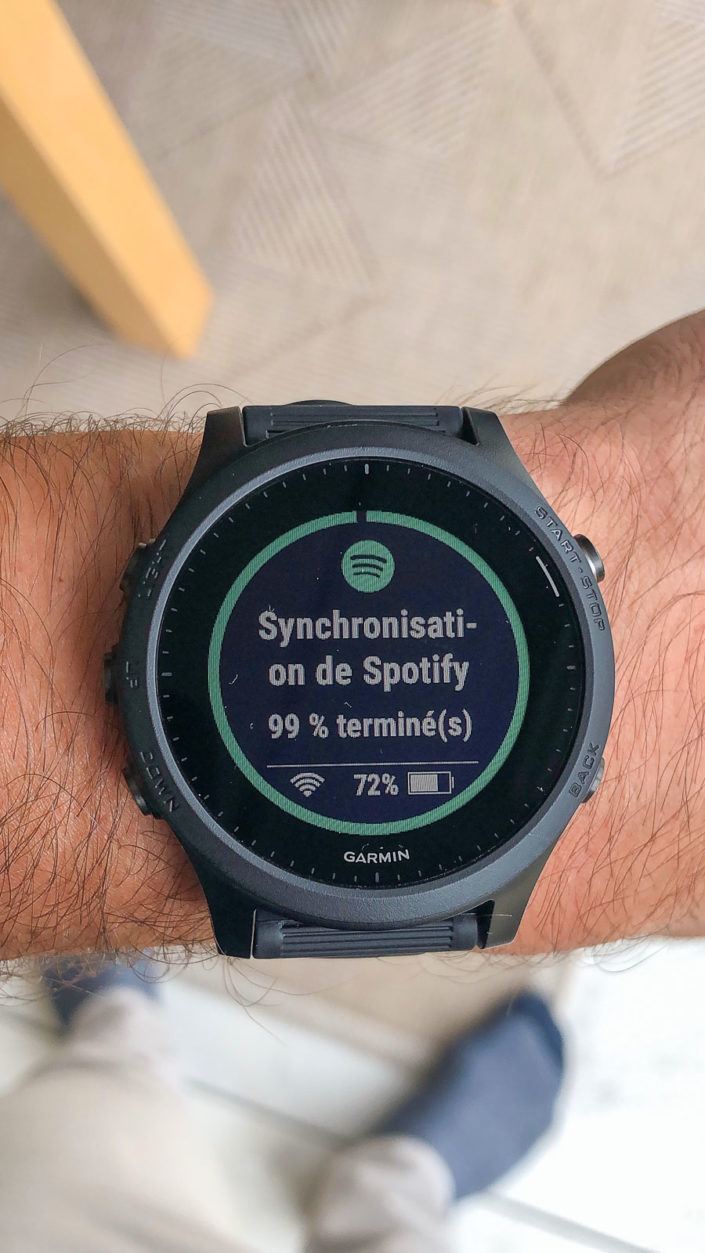 Synchronisation Spotify - Garmin 945