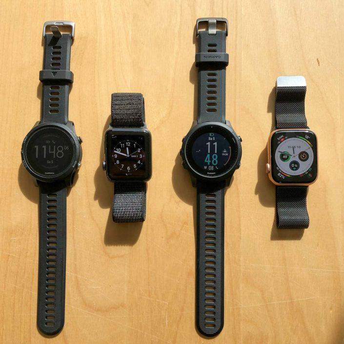 Comparaison de taille Apple Watch / Garmin Forerunner