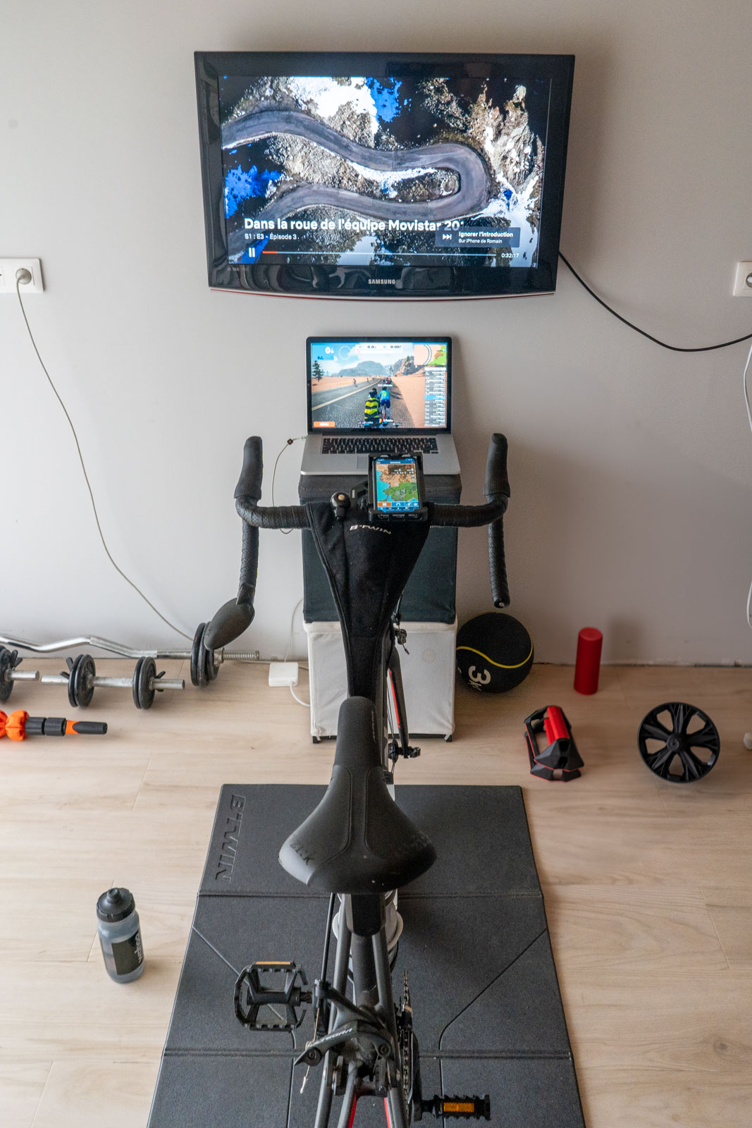 Setup home trainer Zwift-Netflix