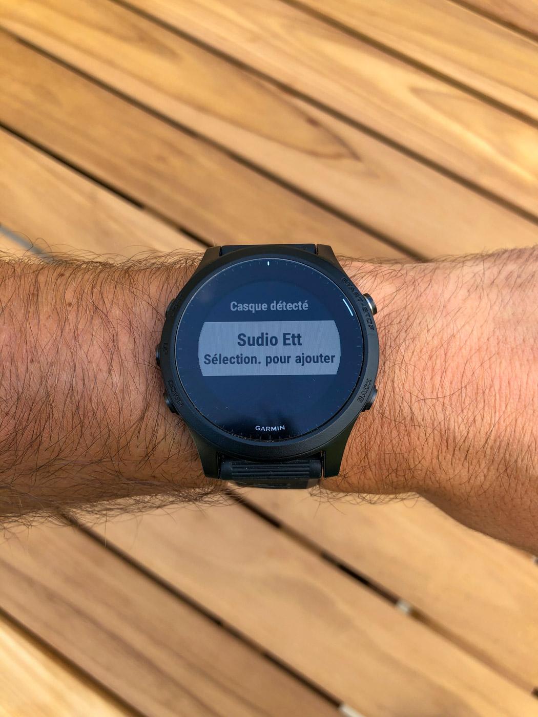 Couplage montre Garmin Forerunner avec écouteurs Sudio ETT