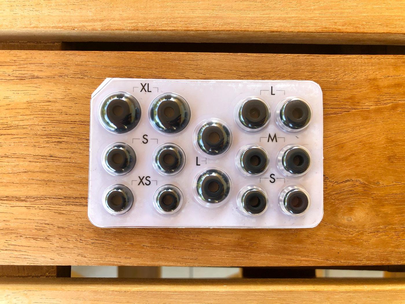Les différentes tailles d'embout des écouteurs Sudio ETT