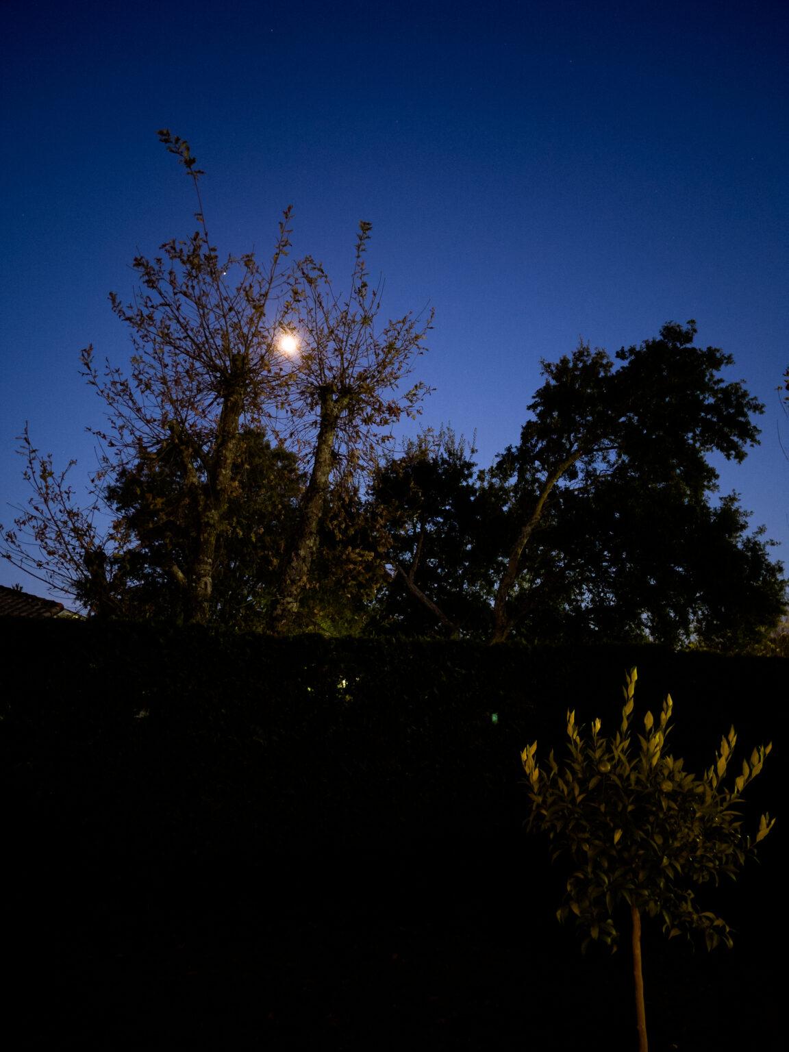 Photo de nuit prise à l'Phone 12 Pro Max au format Apple ProRAW