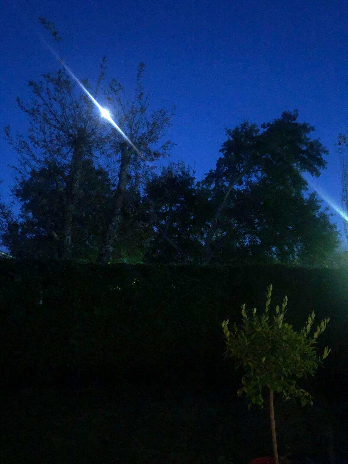 Photo de nuit prise à l'Phone X